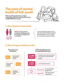 The state of mental health of N.B. youth